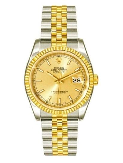 Gold Rolex Oyster Perpetual Datejust Replica Watches