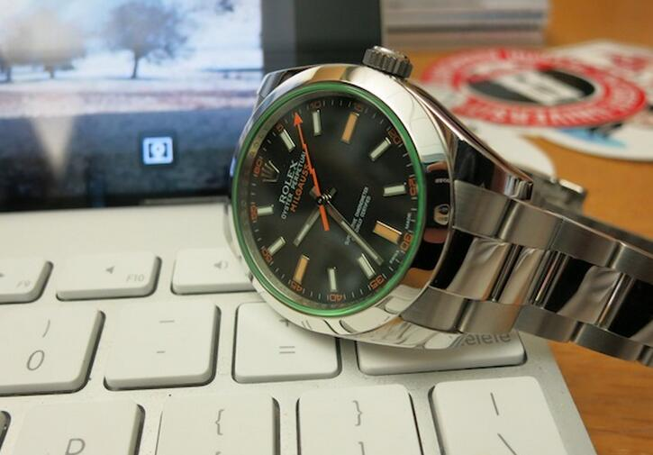 Green Sapphire Crystal Milgauss Replica Watches