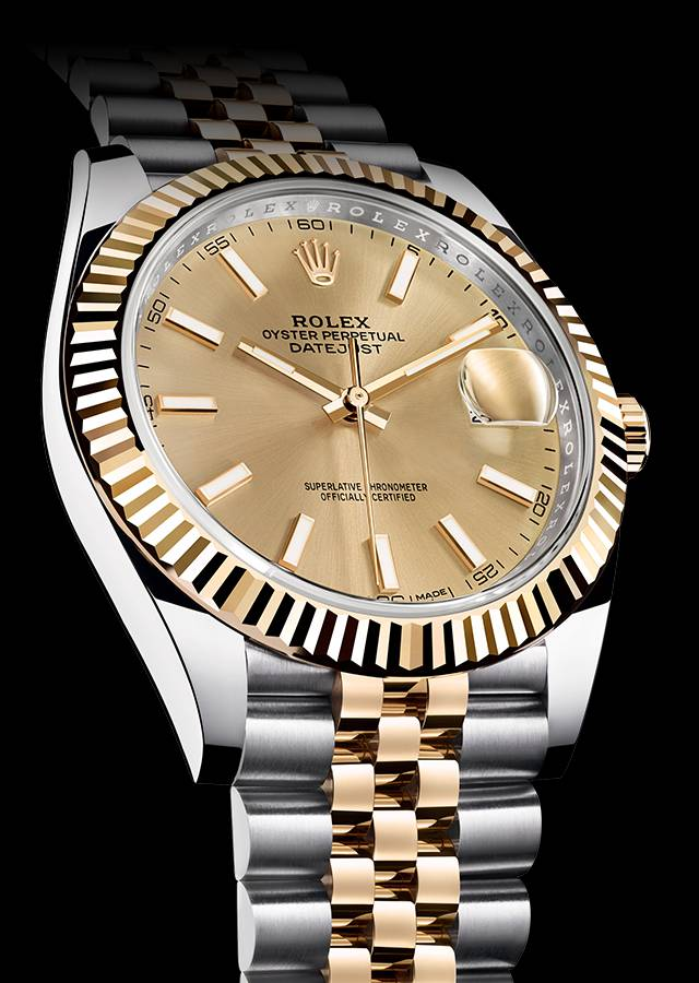 Swiss Replica Datejust 41 Golden Steel and 3235 movement