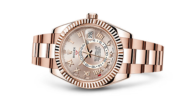 Rolex SKY-DWELLER Replica pink gold watches