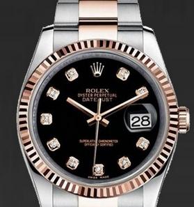Black Dials Rolex Datejust Replica Watches