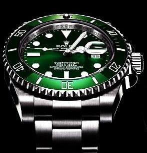 Pretty Green Bezels Rolex Submariner Date Fake Watches