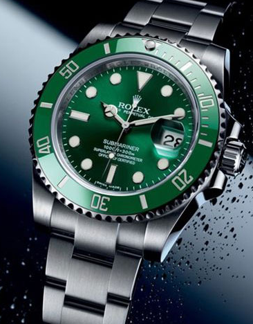 Pretty Green Bezels Rolex Submariner Date Replica Watches