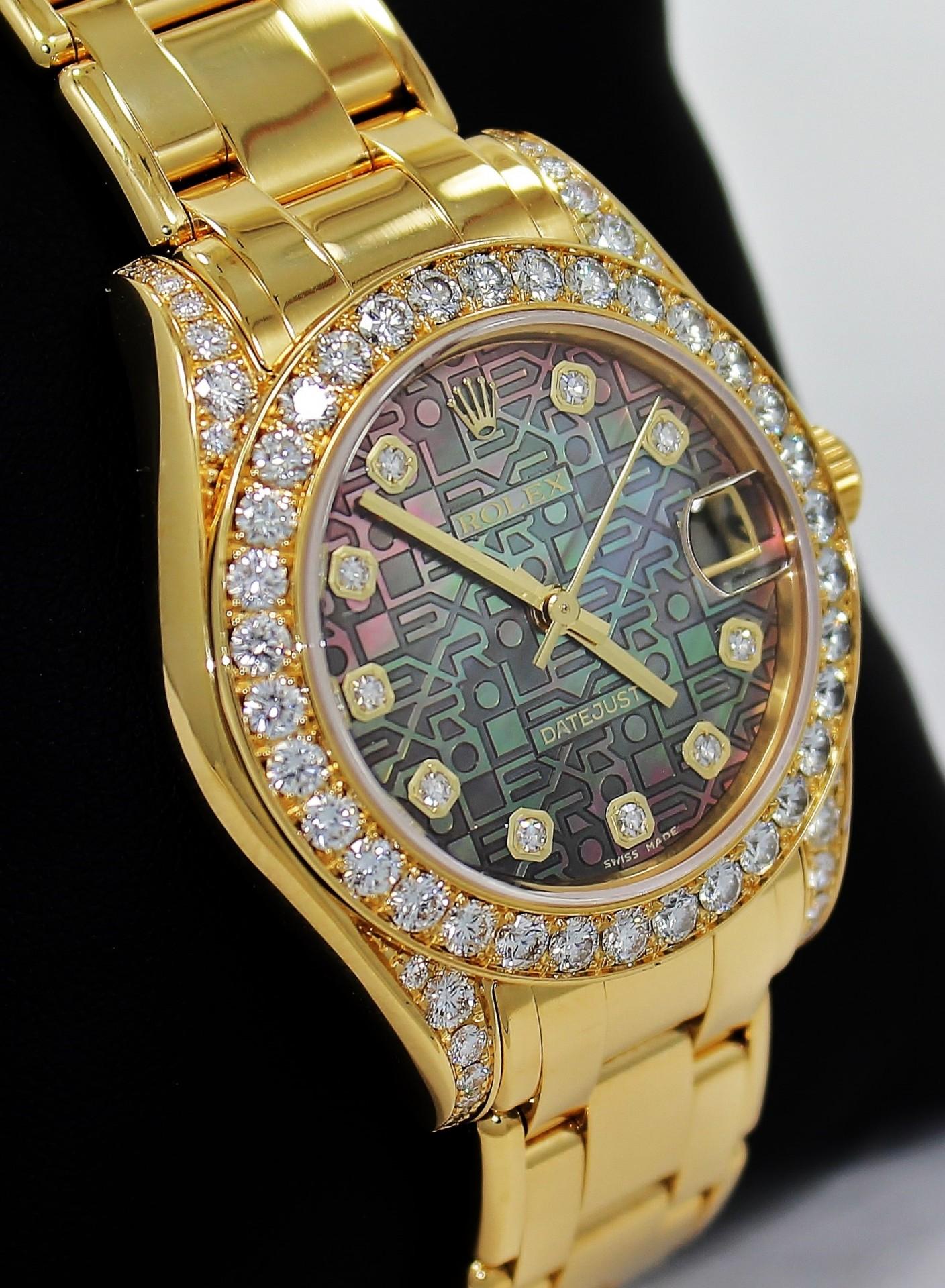 Diamond rolex replica - Rolex Pearlmaster Fake Yellow Gold 34 1