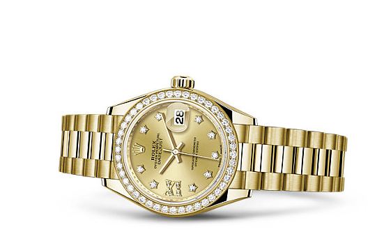 Rolex-Lady-Datejust-Yellow-Gold-Fake