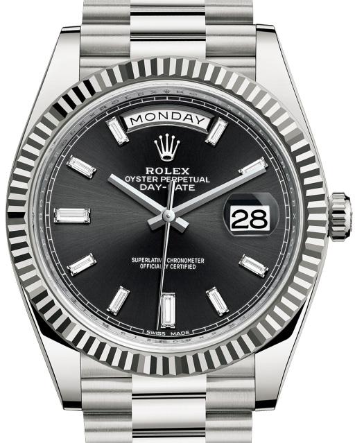 Rolex-Day-Date-Black-Dials-Replica