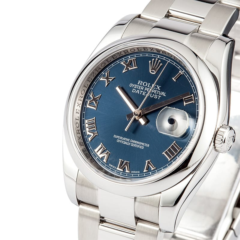 With the cool blue dial, this replica Rolex watch is specially designed for summer.