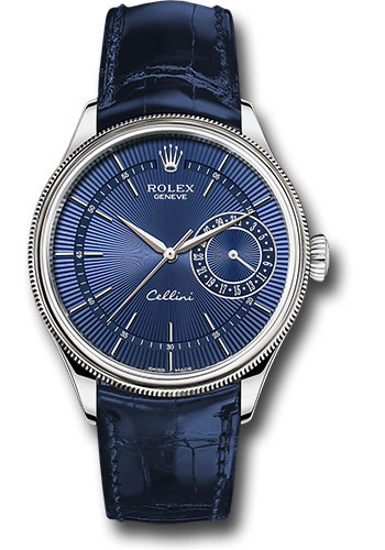 For the eye-catching blue color, this replica Rolex watch easily reminds of the genntlemen.