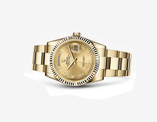 Golden Rolex replica watches are in stable quality.