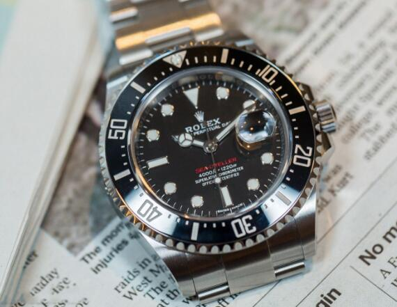 The Rolex Sea-Dweller is water resistant to a depth of 1220 meters which has met the requirements of professional divers.
