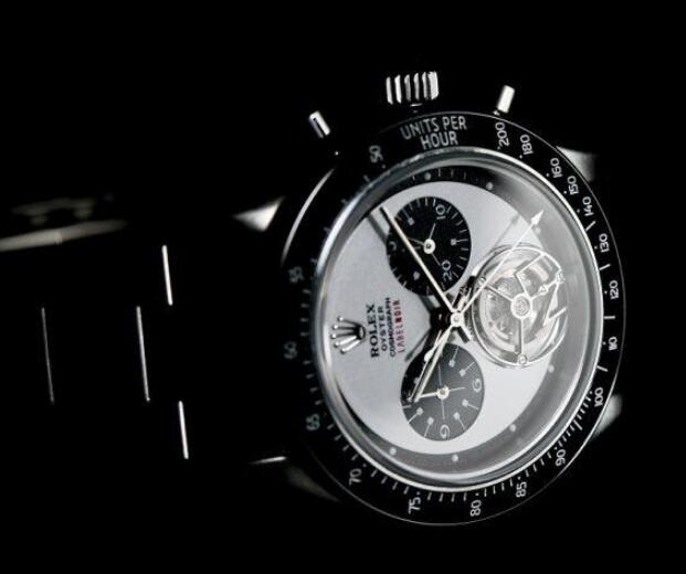 The timepiece is the first Daytona Tourbillon in the history.