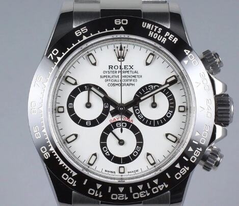 The white dial Rolex Daytona is very difficult to get.
