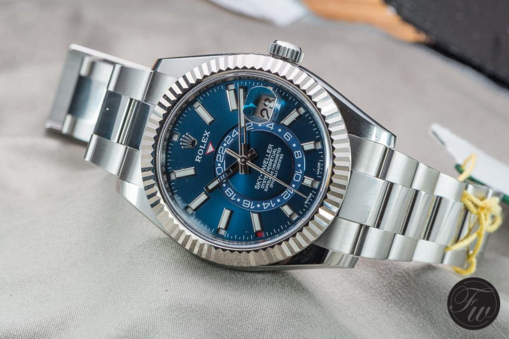 The best fake Rolex Sky-Dweller is most complicated model of Rolex.