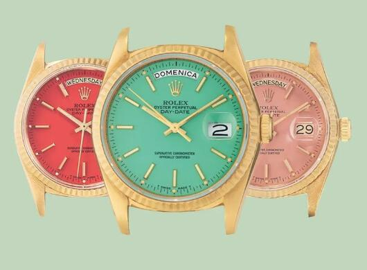 The colorful dials of best copy Rolex will remind us of the popular Stella dials of Day-Date.