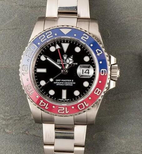 Rolex GMT-Master II fake is good choice for global travelers.